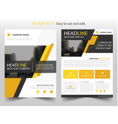 yellow black abstract brochure annual report vector image vector image