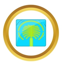 Artificial islands in uae icon vector
