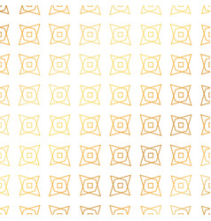 Golden pattern background with geometric shapes vector