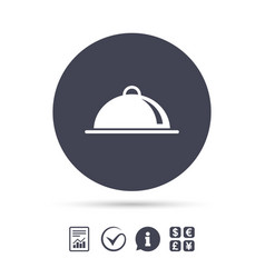 food platter serving sign icon table setting vector image