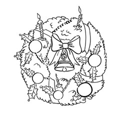 Cartoon image of christmas decoration vector
