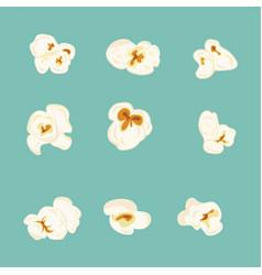 set of popcorn elements vector image