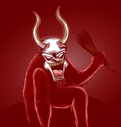 krampus vector image