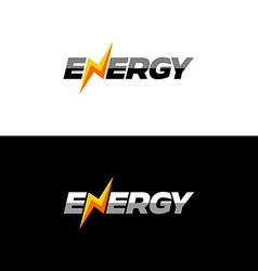 Energy text logo vector