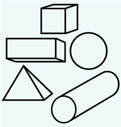 Geometric figures vector image