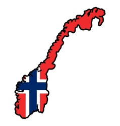 Map in colors of norway vector
