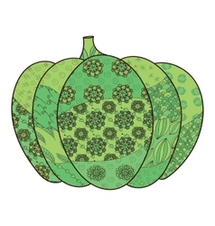 Green pumpkin vector