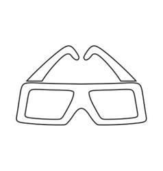 3d glasses icon movie design graphic vector