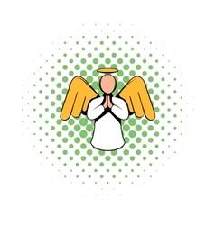 Angel icon comics style vector image vector image