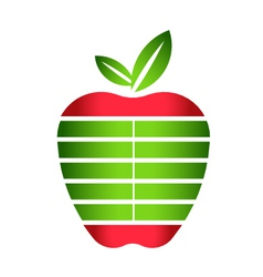 Apple with stripes logo vector