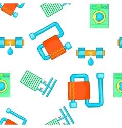 Bathroom pattern cartoon style vector