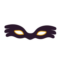 black carnival mask icon vector image vector image