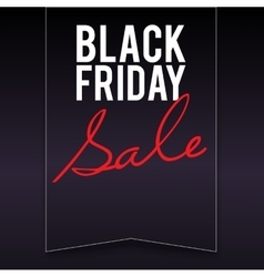 Black Friday sale banner with pennant vector image vector image