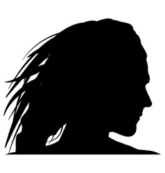 Black woman silhoutte on white background vector