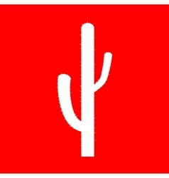 Cactus simple sign vector