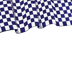 Checkered violet flag racing top banner vector