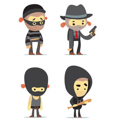 Criminals vector