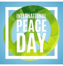 Day of peace poster vector
