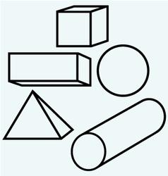 Geometric figures vector image