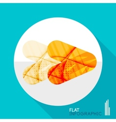 Geometric infographic in trendy flat style vector image