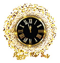 Gold confetti happy new year background 1711 vector