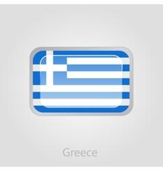 Greece flag button vector