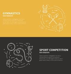 Gymnastics flyer concept vector