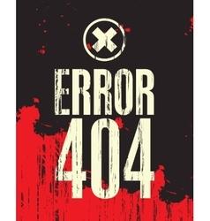 Inscription error 404 vector