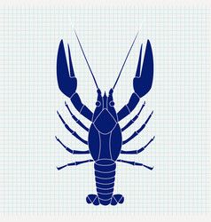lobster sketch vector image