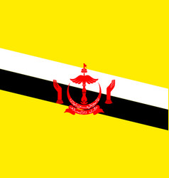 national flag of brunei vector image vector image