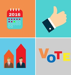 Presidential elections 2016 icon set vector