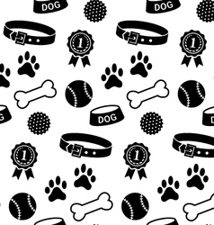 Seamless pattern with dogs stuff vector image vector image