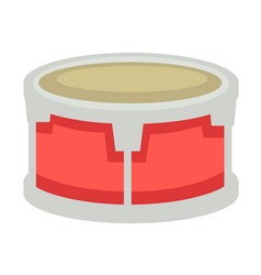 Small drum with metal corpus and fabric top vector
