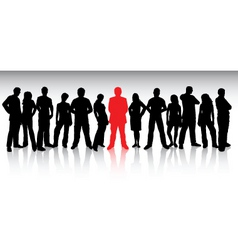 stand out from the crowd vector image vector image