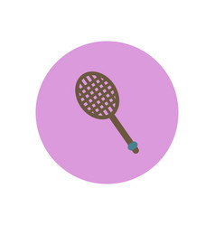 Stylish icon in color circle tennis racquet vector