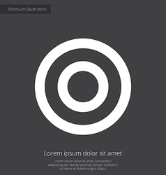 Target premium icon white on dark background vector