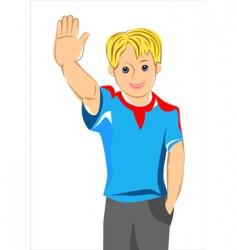 teen boy vector image