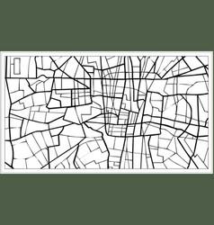 Tehran iran map in black and white color vector