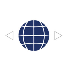 The globe icon globe symbol flat vector