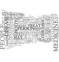 Why choose naturopathic medicine text word cloud vector