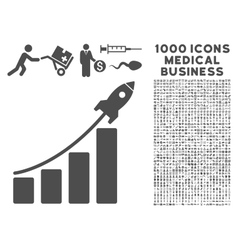 Startup sales icon with 1000 medical business vector
