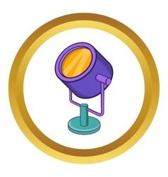 Spotlight icon vector