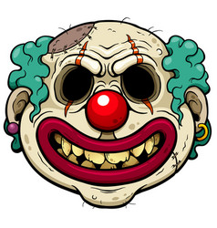 clown zombie vector image