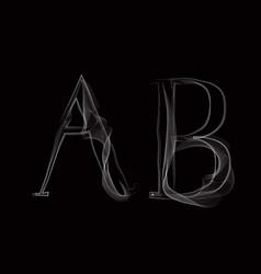 16 smokeabc blk vector image