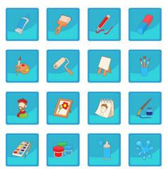 art icon blue app vector image
