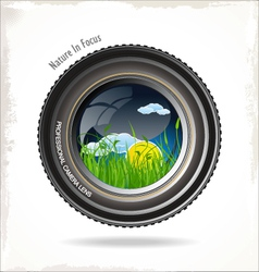 Nature in focus background vector