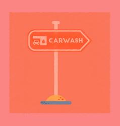 Flat shading style icon car wash sign vector