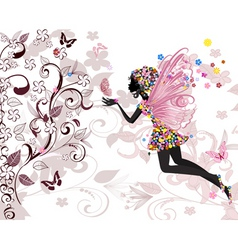Fairy pattern vector