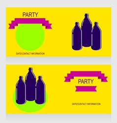 0615 8 three bottles v vector