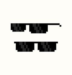Pixel Art Sunglasses vector image